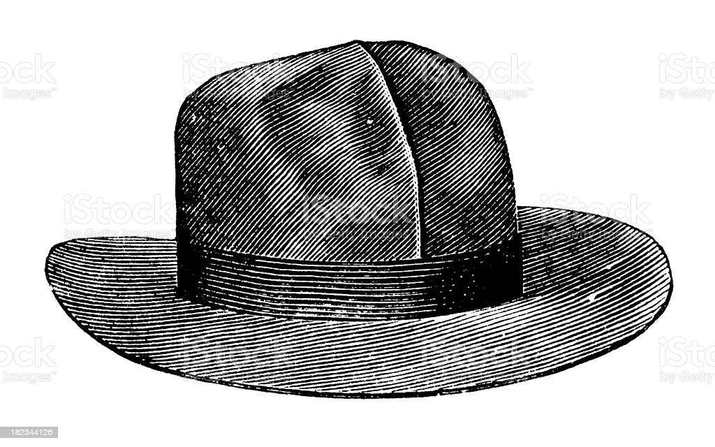 Fedora hat | Antique Design Illustrations royalty-free stock vector art