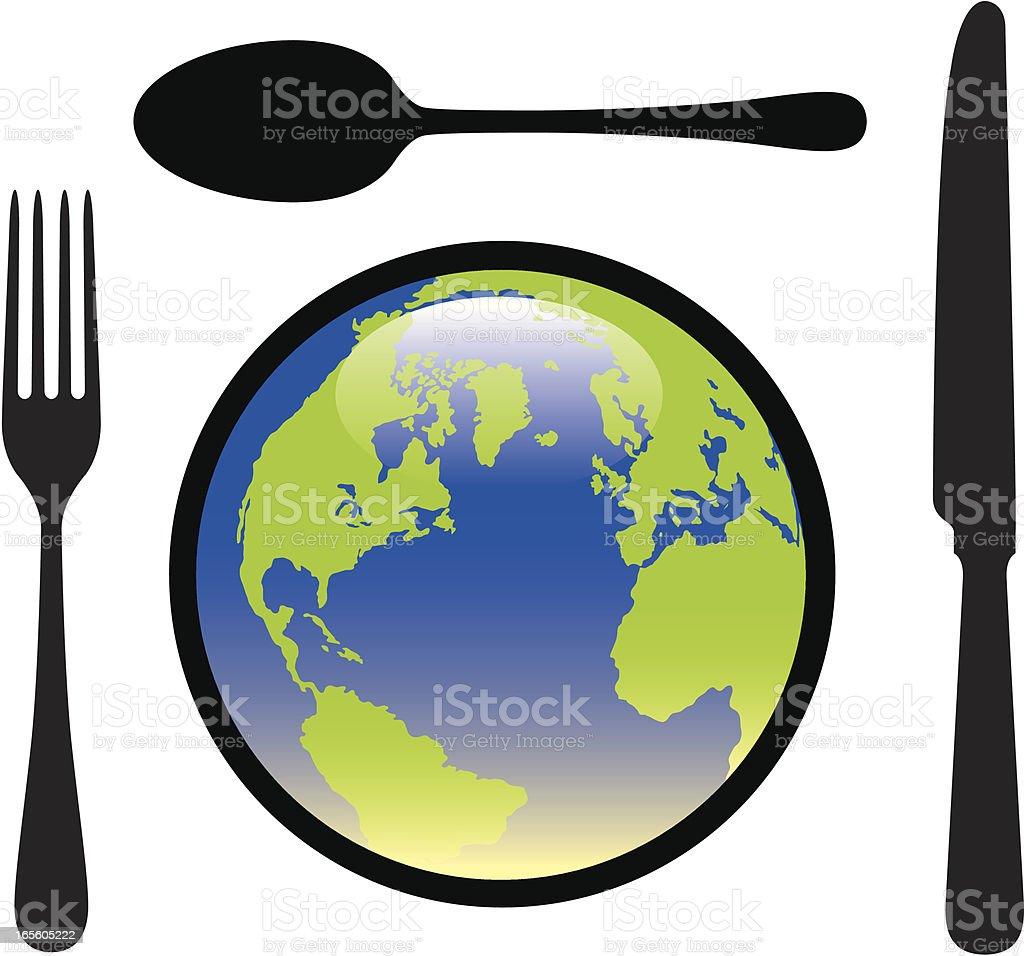 Feed the world. royalty-free stock vector art