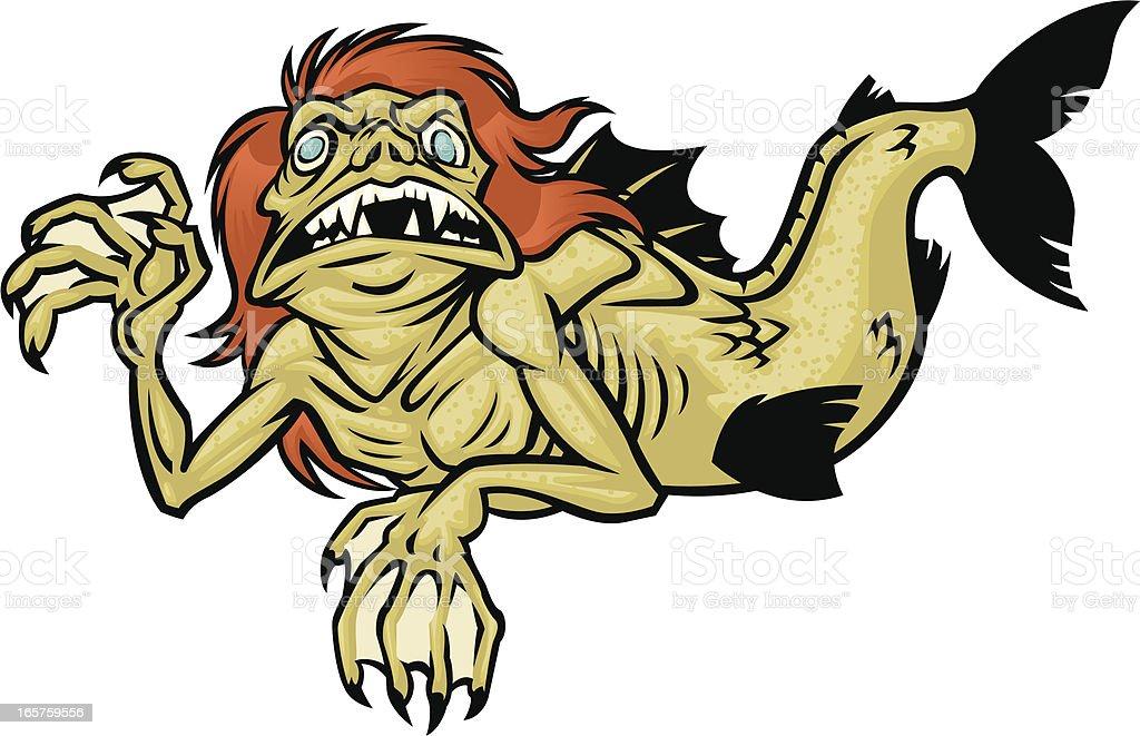 feejee mermaid vector art illustration