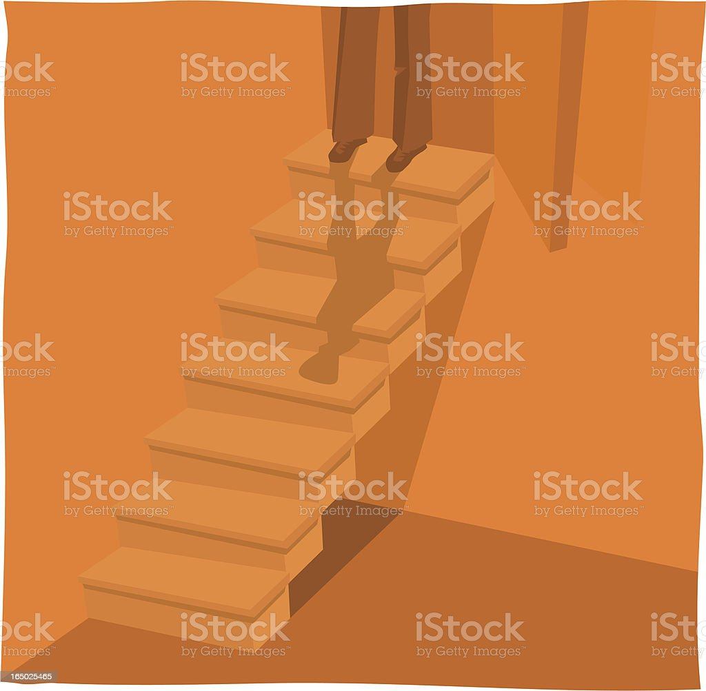 Feet on Stairs royalty-free stock vector art