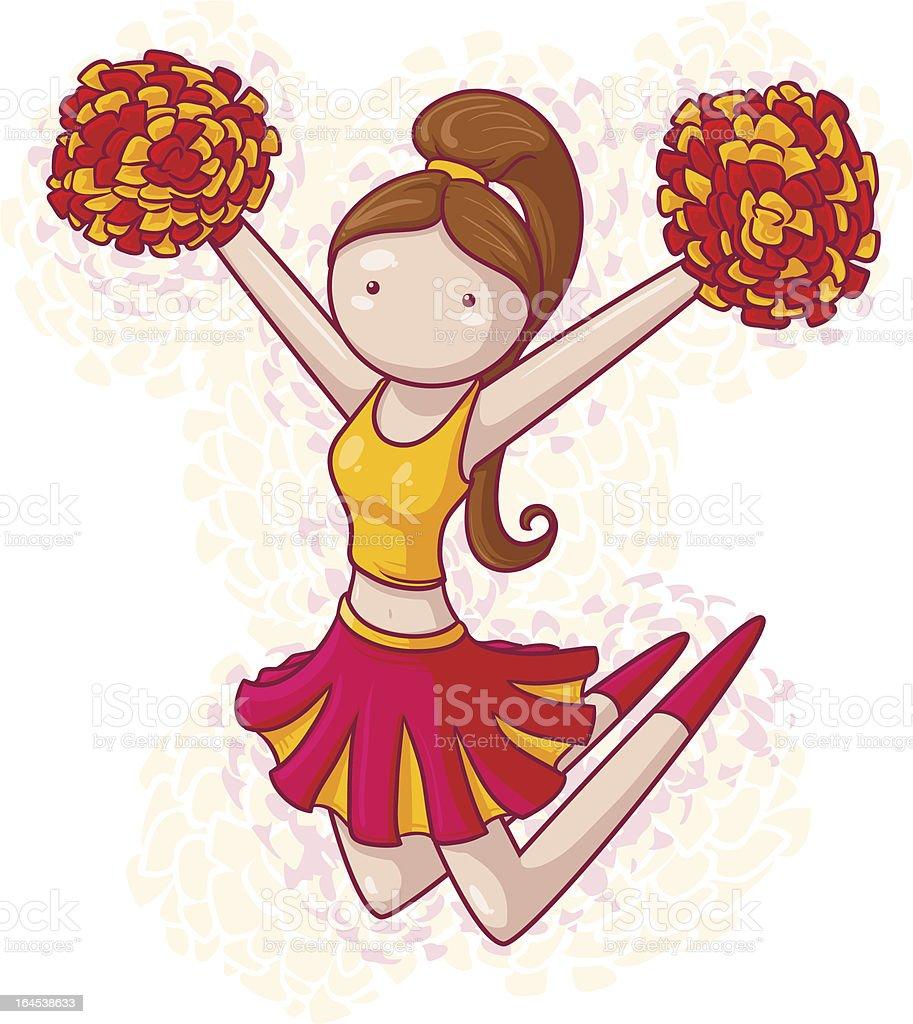 Female  cheerleader (jump) royalty-free stock vector art