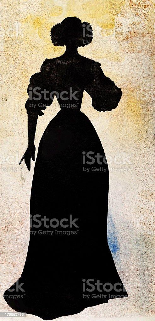 female court dress royalty-free stock vector art
