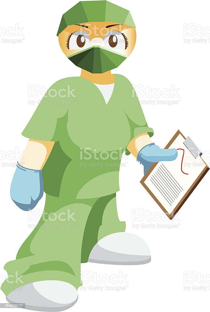 Female medical staff royalty-free stock vector art