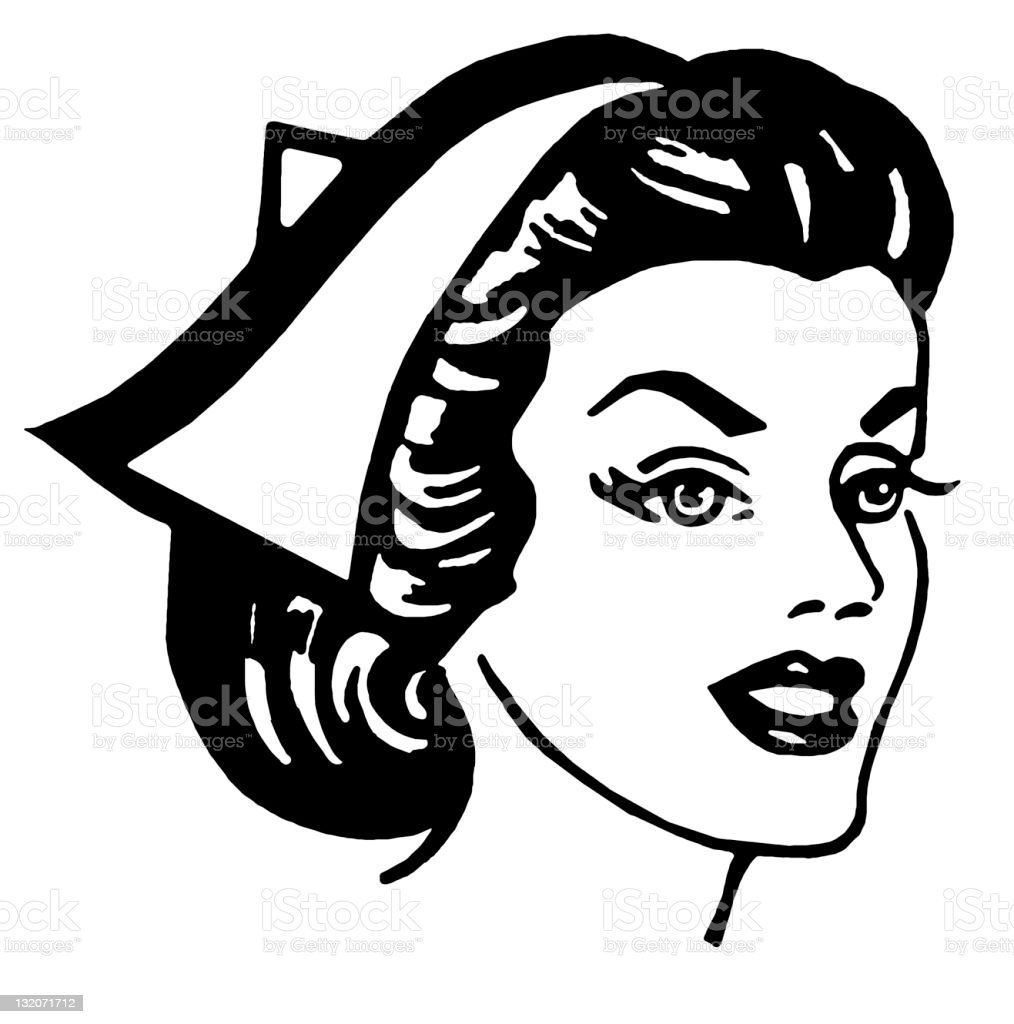 Female Nurse royalty-free stock vector art