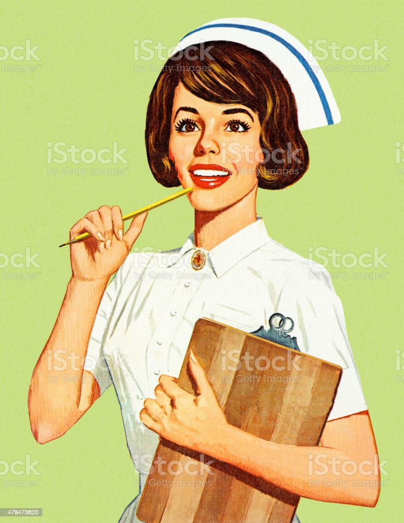 Female Nurse vector art illustration