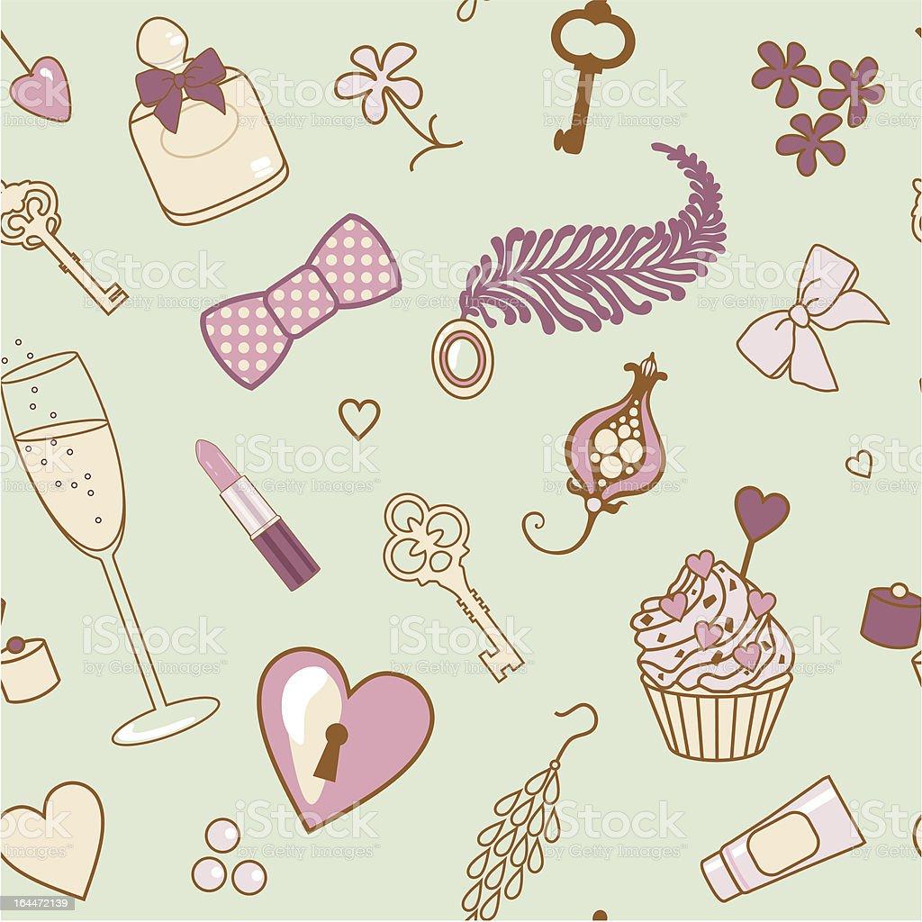 female pattern royalty-free stock vector art
