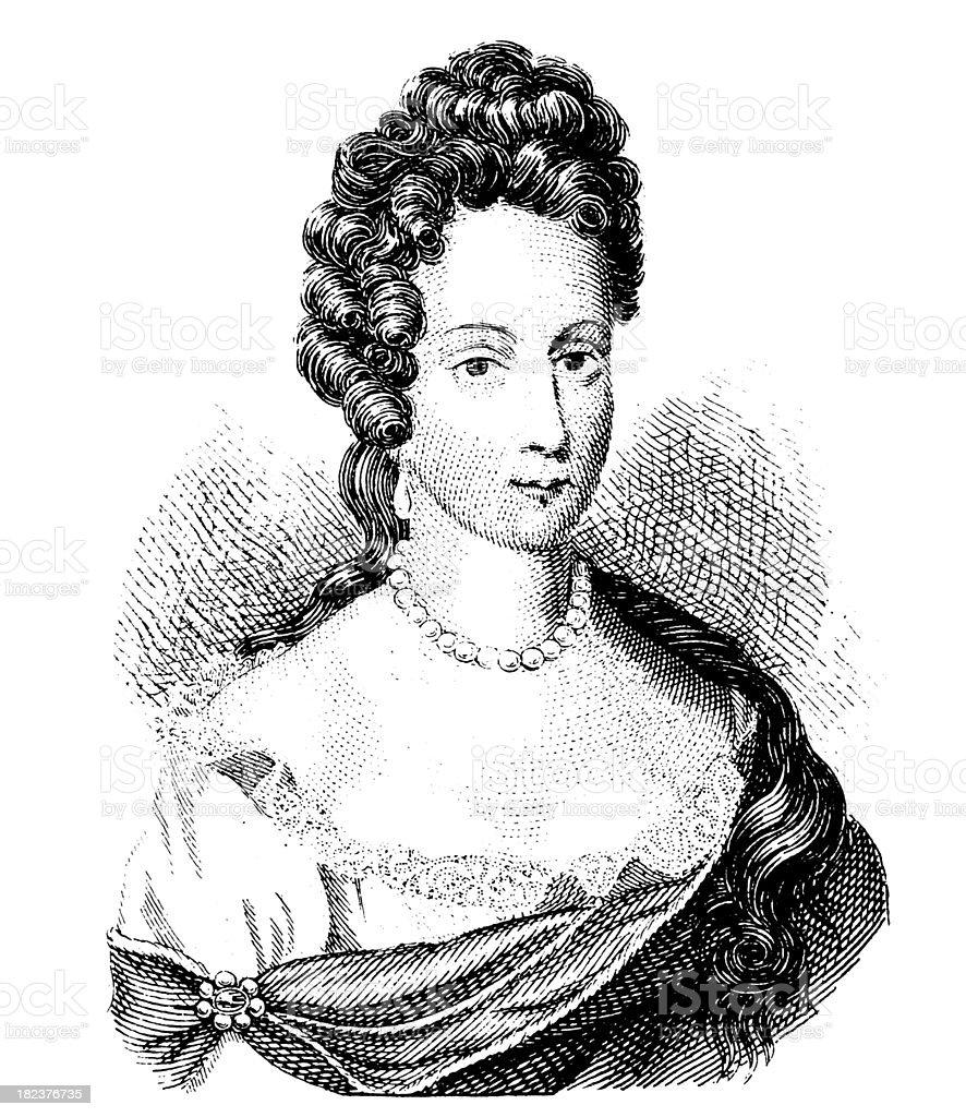 Female Portrait | Antique Illustration Gallery royalty-free stock vector art