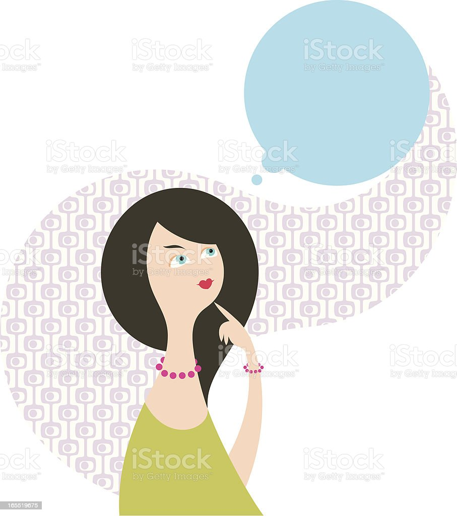 Female reflections royalty-free stock vector art