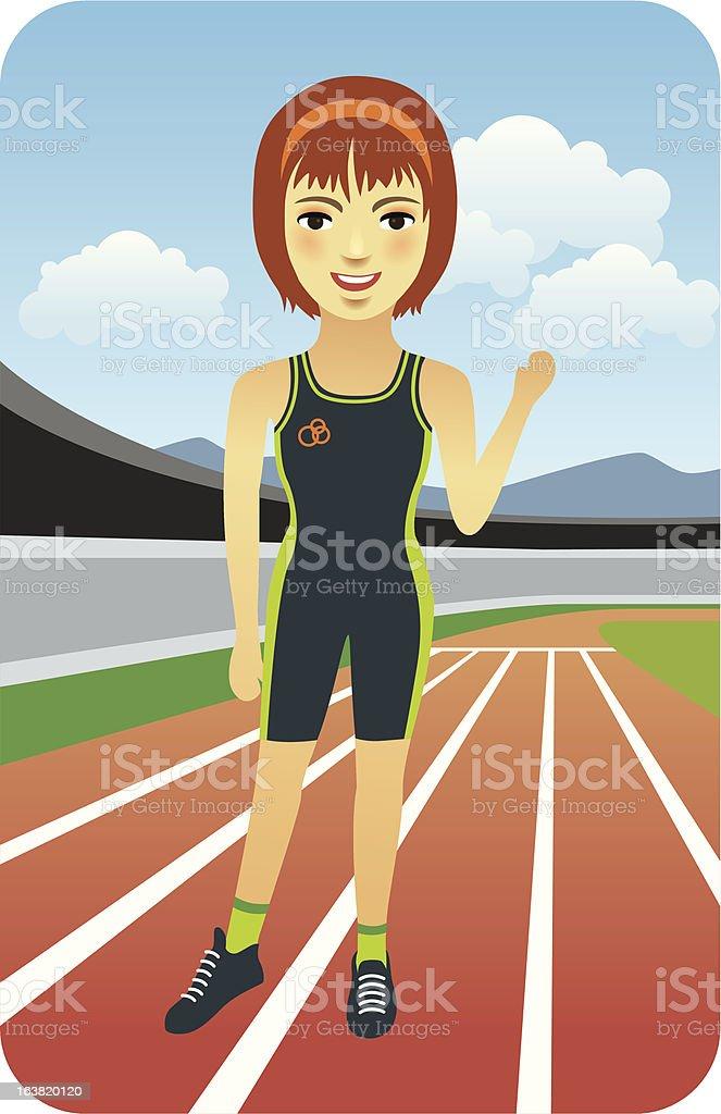Female Runner royalty-free stock vector art