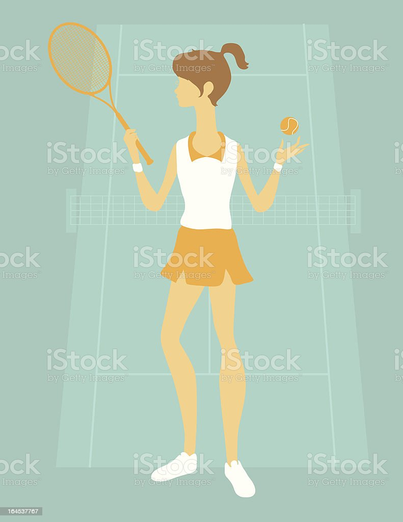 Female Tennis Player royalty-free stock vector art