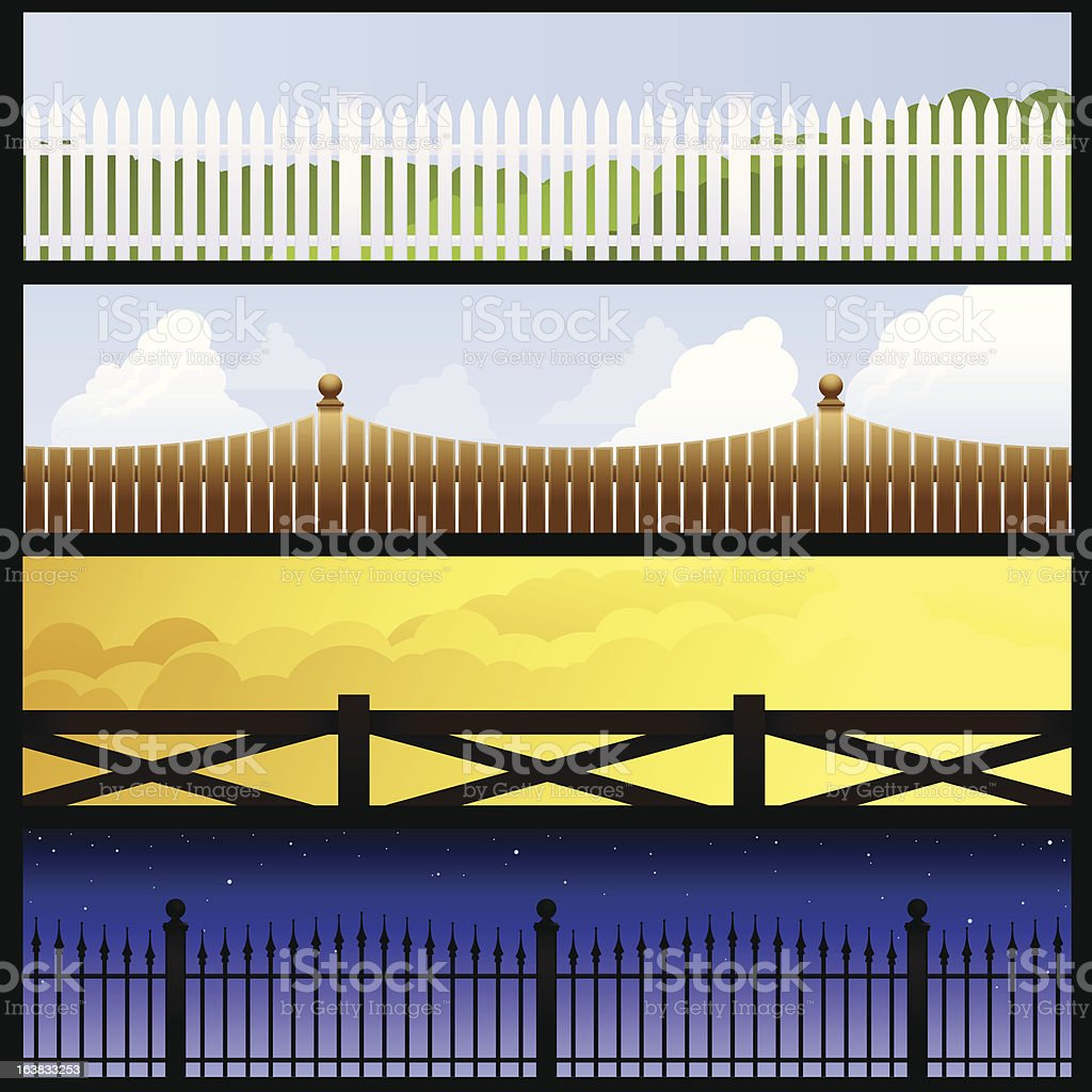 Fence banners royalty-free stock vector art