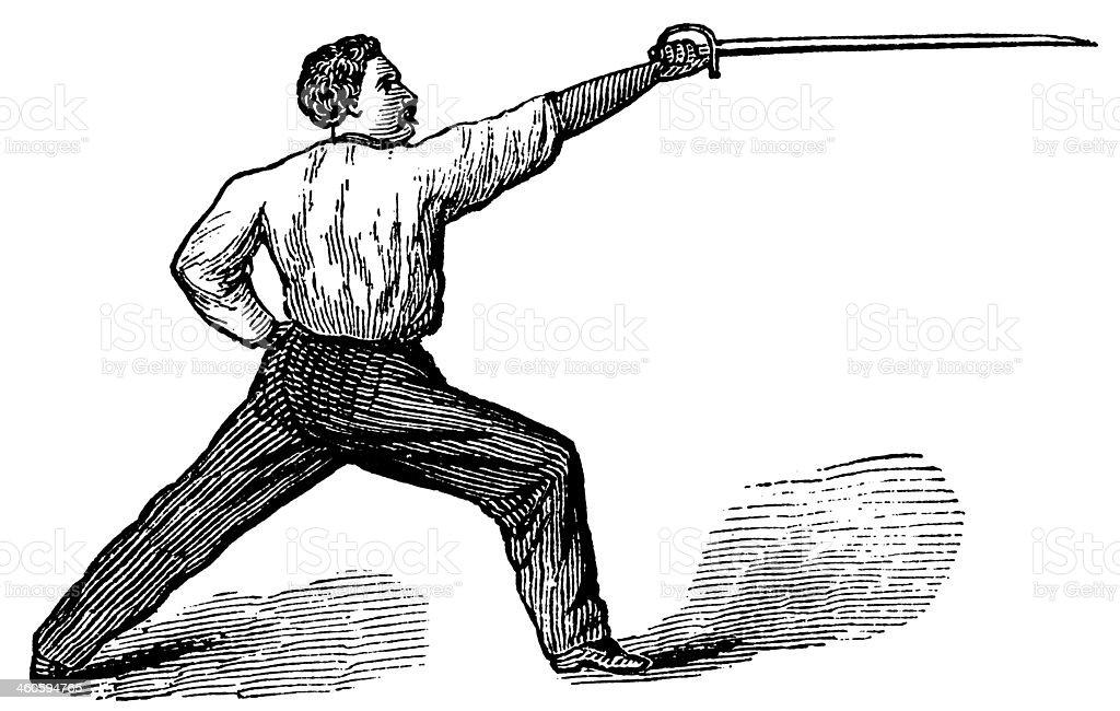 Fencing royalty-free stock vector art