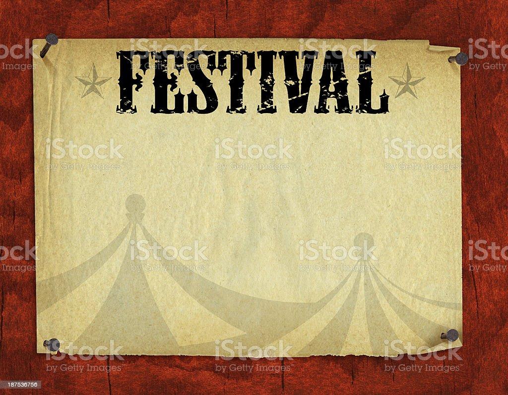 Festival Poster Retro Background royalty-free stock vector art