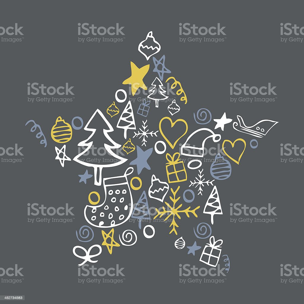 Festive Christmas star background royalty-free stock vector art