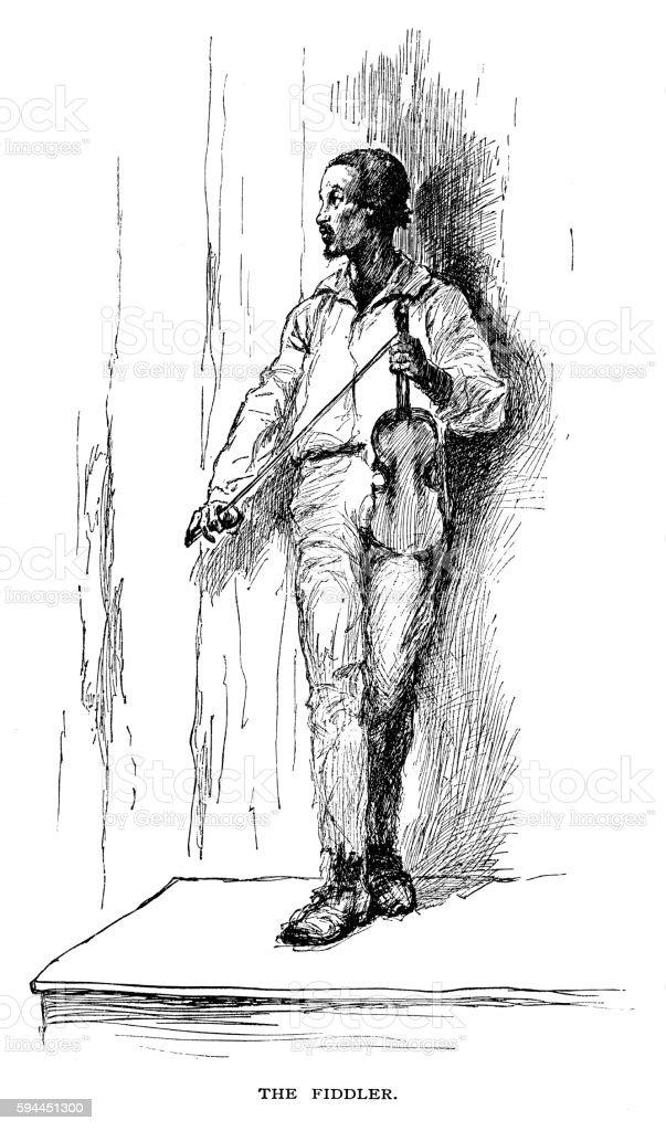 Fiddler vector art illustration