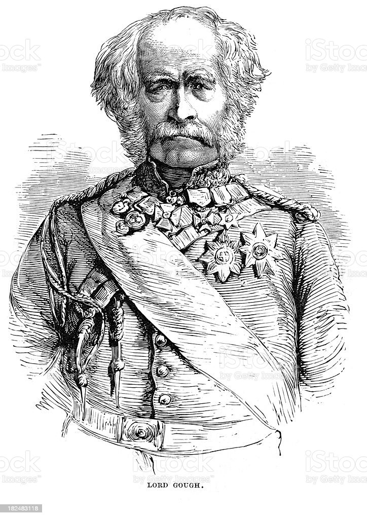 Field Marshal Hugh Gough royalty-free stock vector art