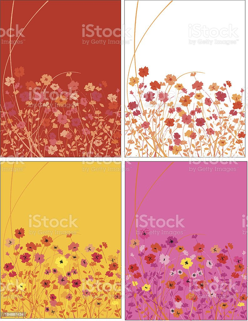 field of poppies royalty-free stock vector art