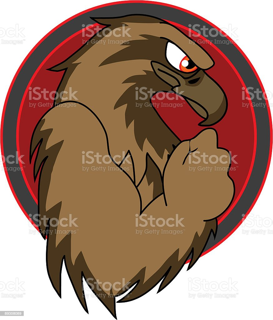 Fierce Hawk royalty-free stock vector art