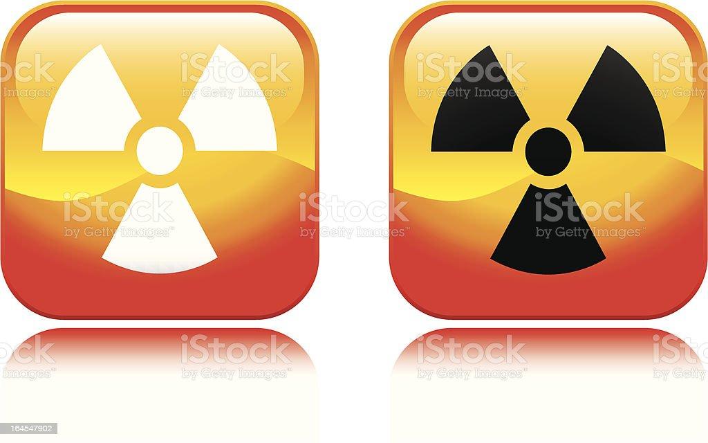 Fiery Radiation Icon royalty-free stock vector art