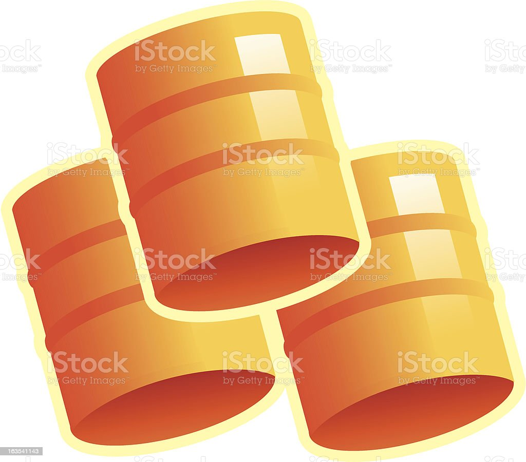 Fifty Gallon Drums or Barrels royalty-free stock vector art