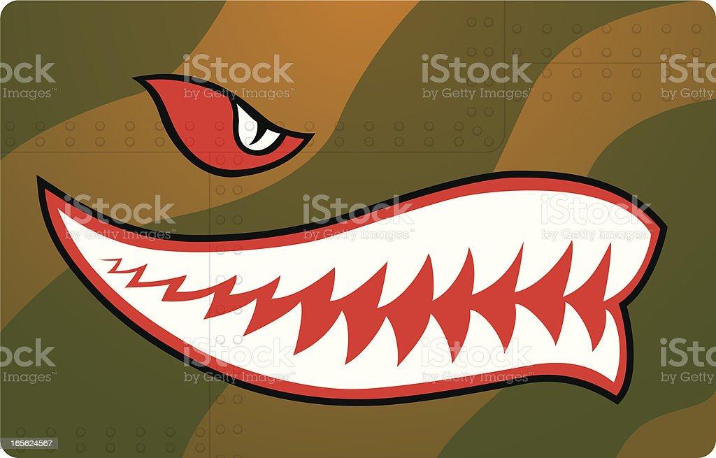 fighter teeth vector art illustration