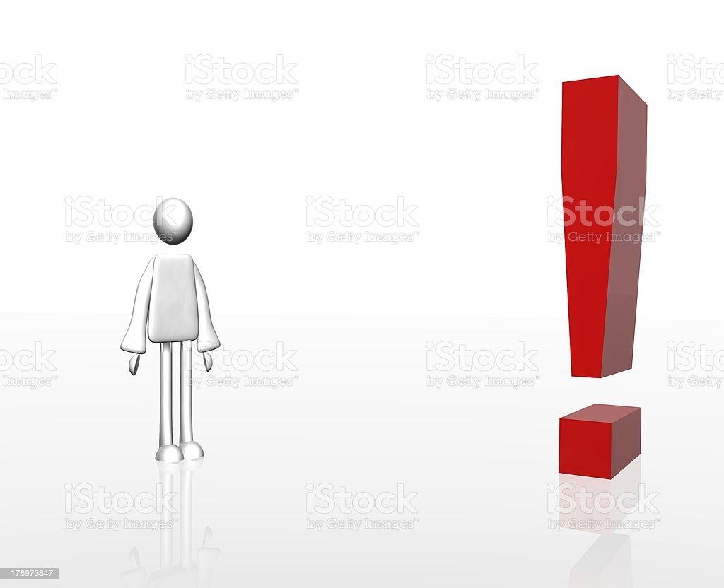 Figur mit Ausrufezeichen royalty-free stock vector art