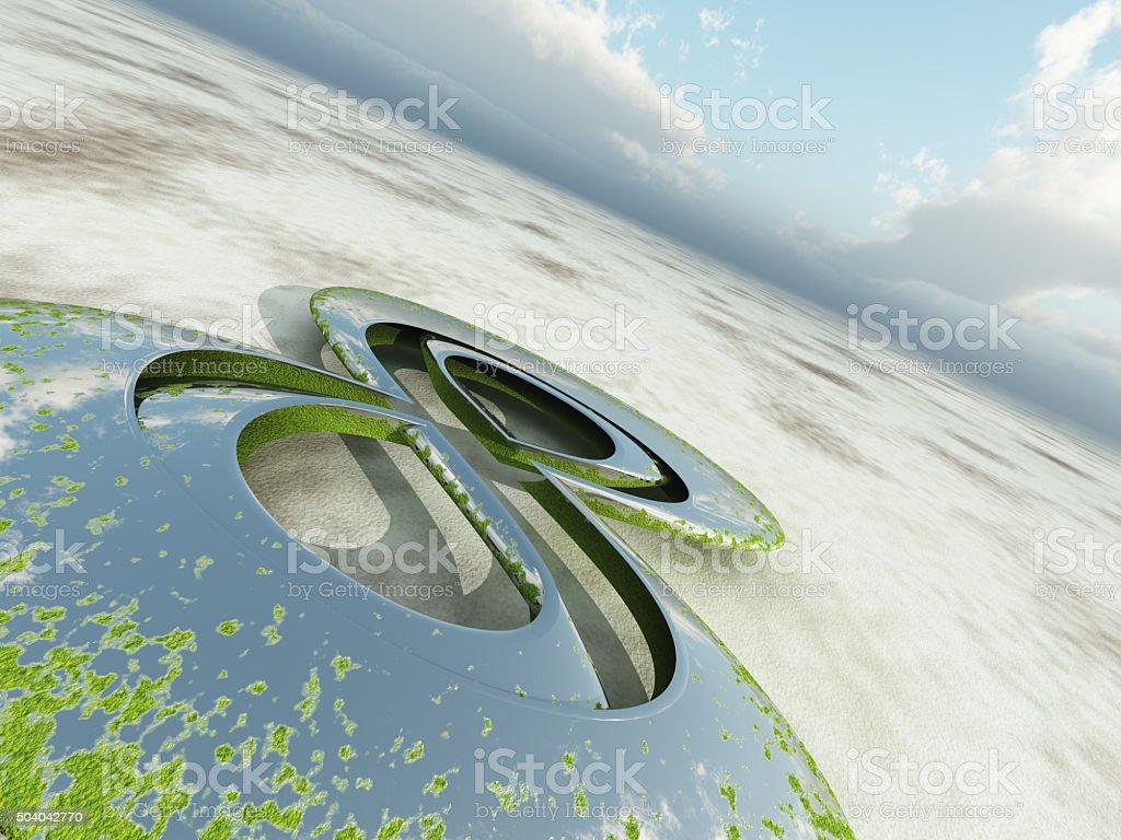 Figure Eight Perspective Background vector art illustration