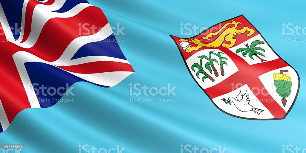 Fiji flag. royalty-free stock vector art