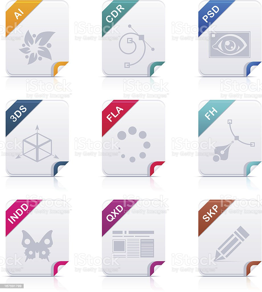 File type icons: Art & Design vector art illustration