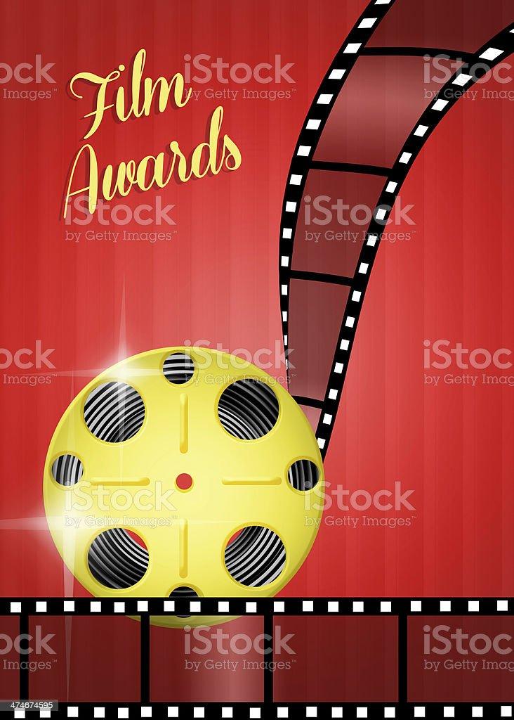 Film awards royalty-free stock vector art