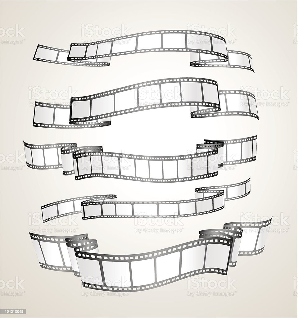 film strip banners vector art illustration
