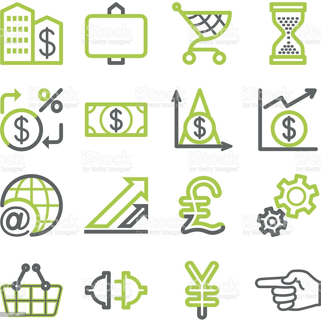 Finance and banking icons. royalty-free stock vector art