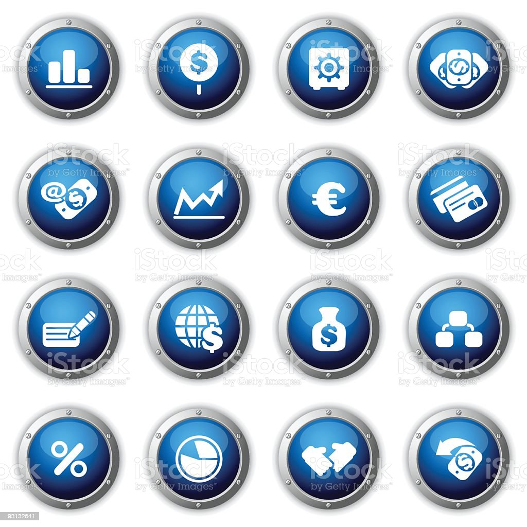 Finance buttons. royalty-free stock vector art