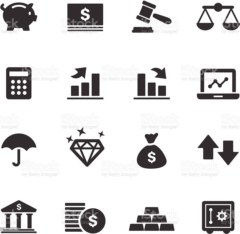 Finance Icons | Mono Series royalty-free stock vector art