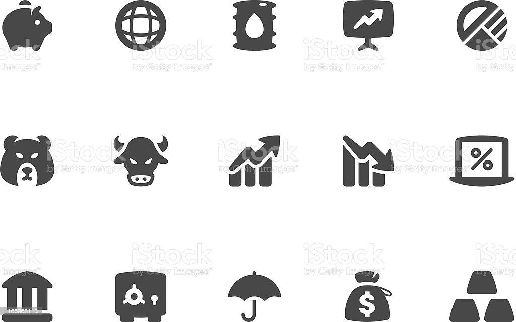 Finance & Investment Icon Set - Coal Series vector art illustration