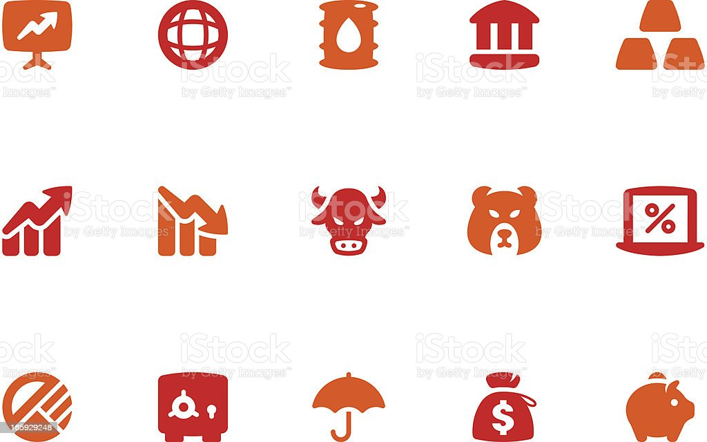 Finance & Investment Icon Set | Coral Series royalty-free stock vector art