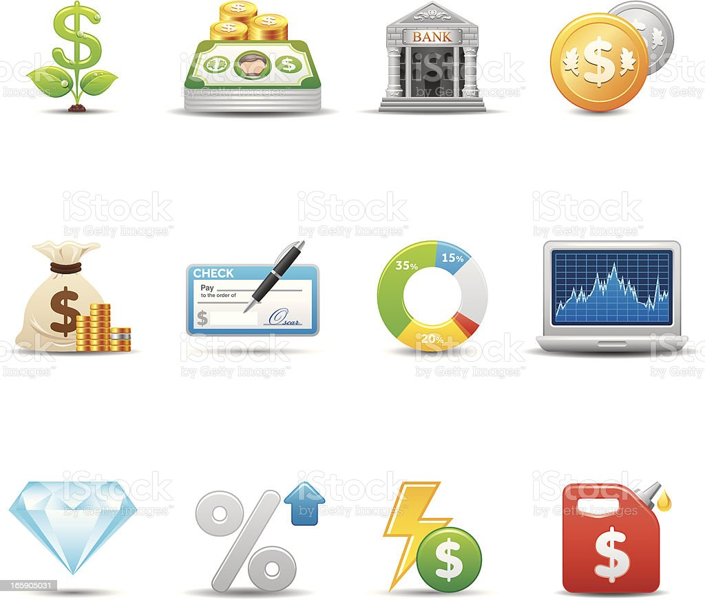 Finance & Investment Icon Set | Elegant Series royalty-free stock vector art