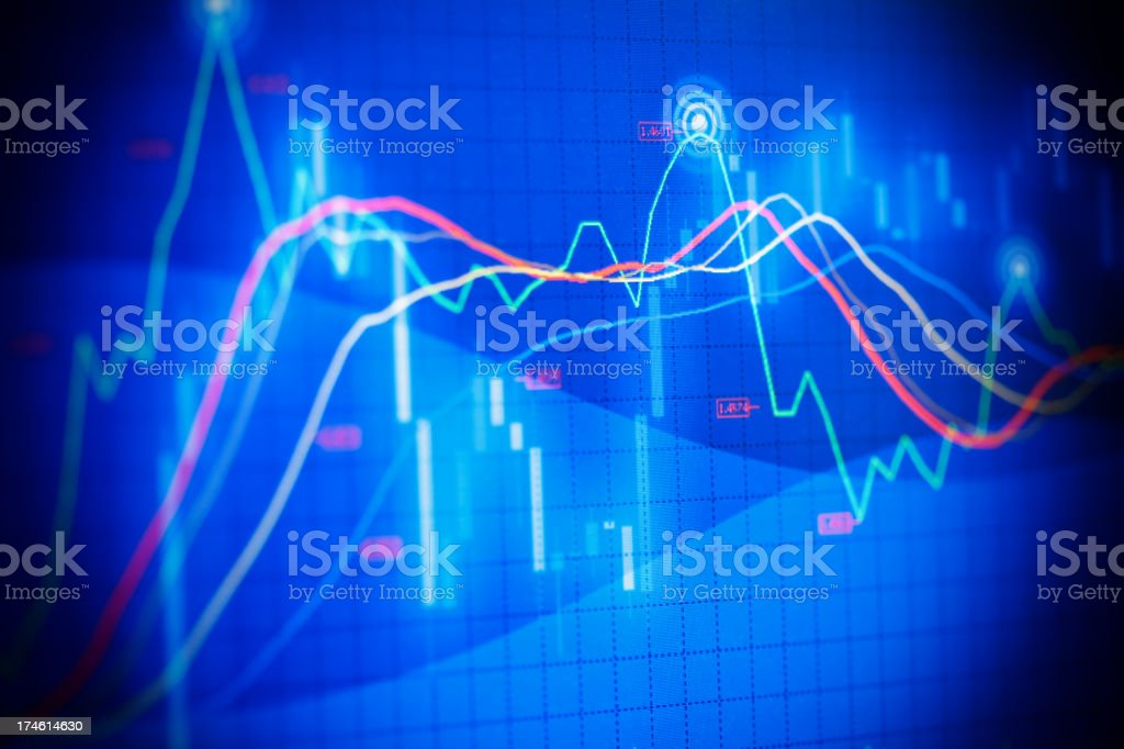 Financial chart royalty-free stock vector art