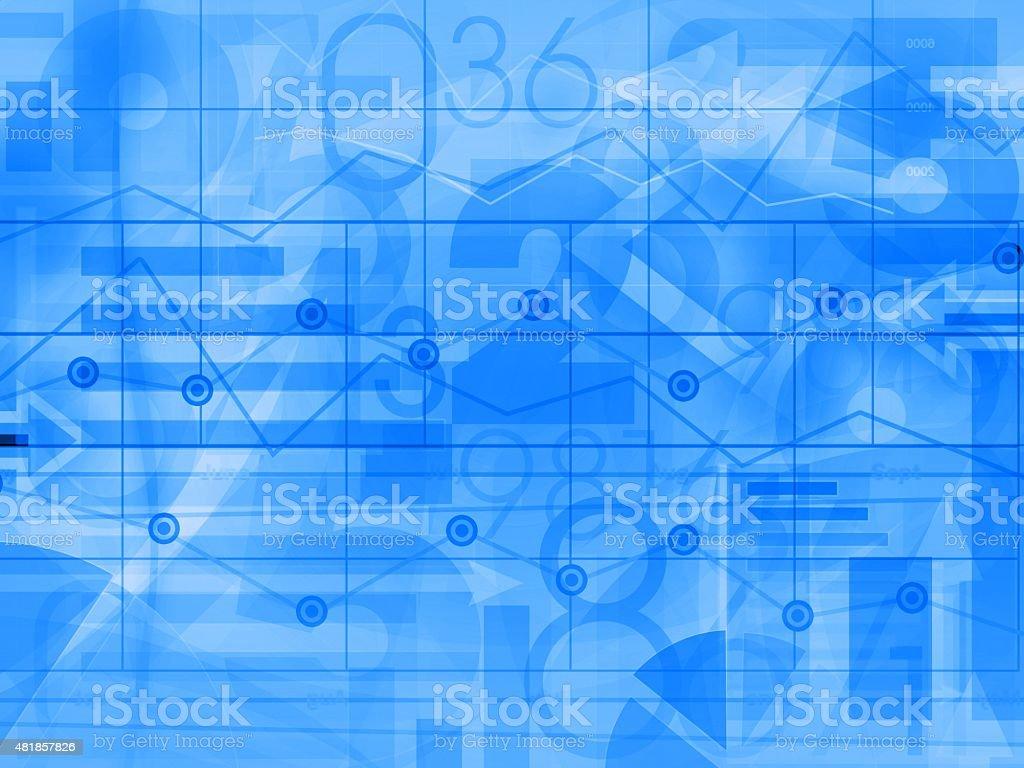 financial corporate business blue light background vector art illustration