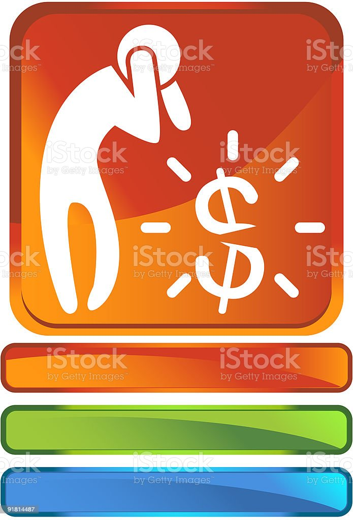Financial Crisis Icon royalty-free stock vector art