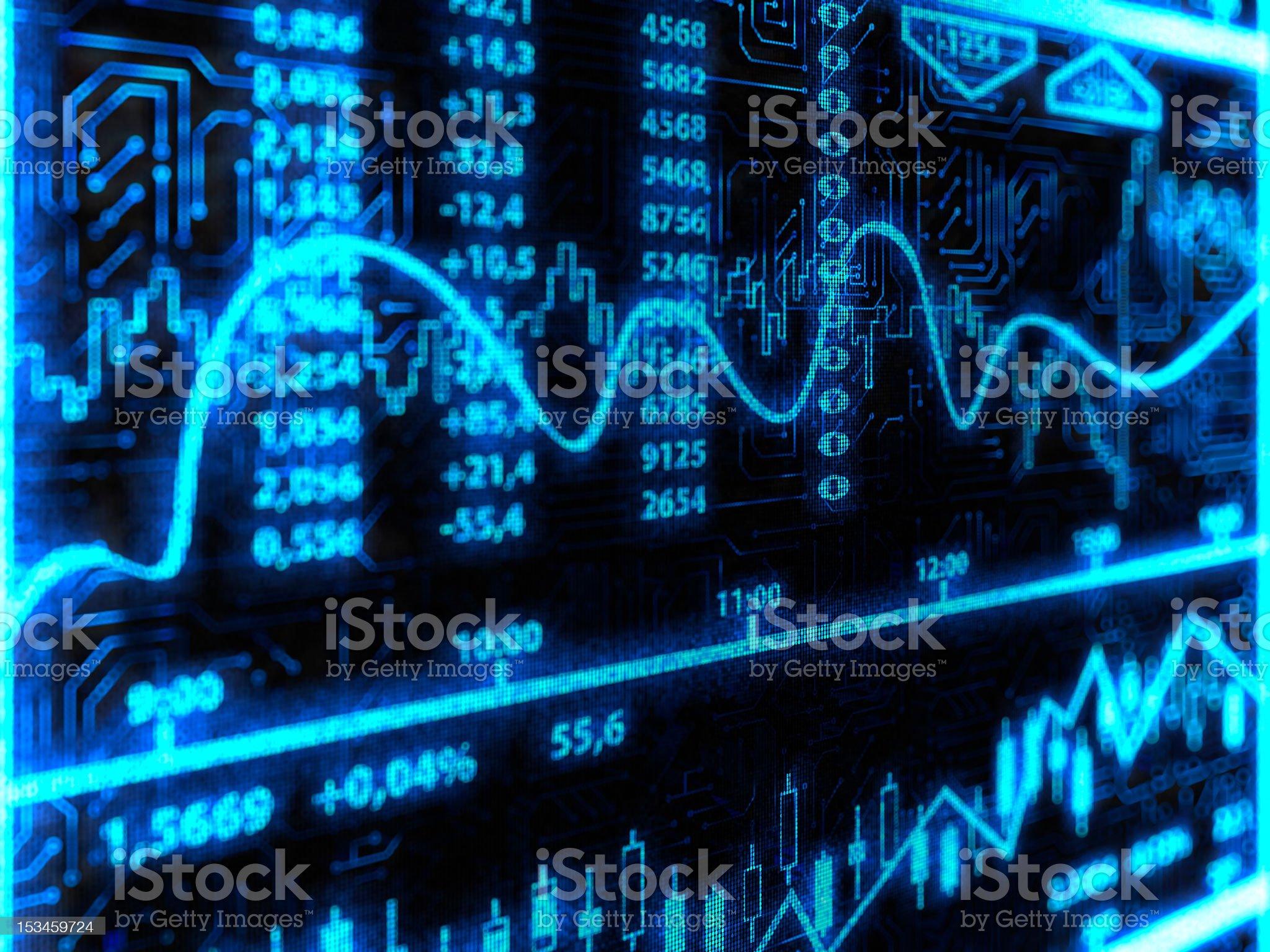 Financial Diagram royalty-free stock vector art