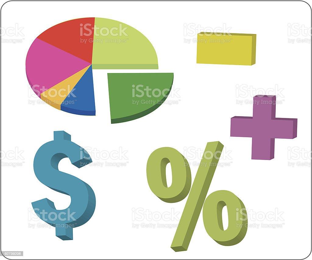 Financial elements - vector royalty-free stock vector art