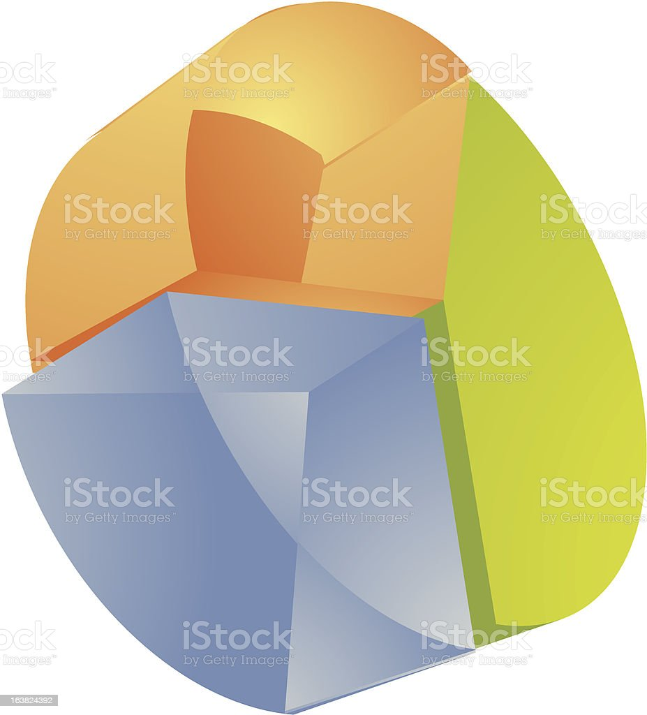Financial Illustration Of Pie Chart Translucent Effect Stock Vector