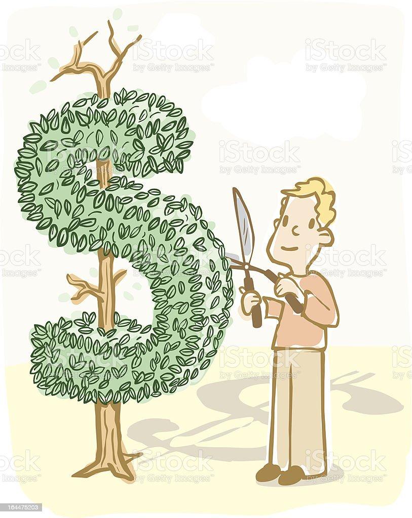 Financial Planning Metaphor vector art illustration