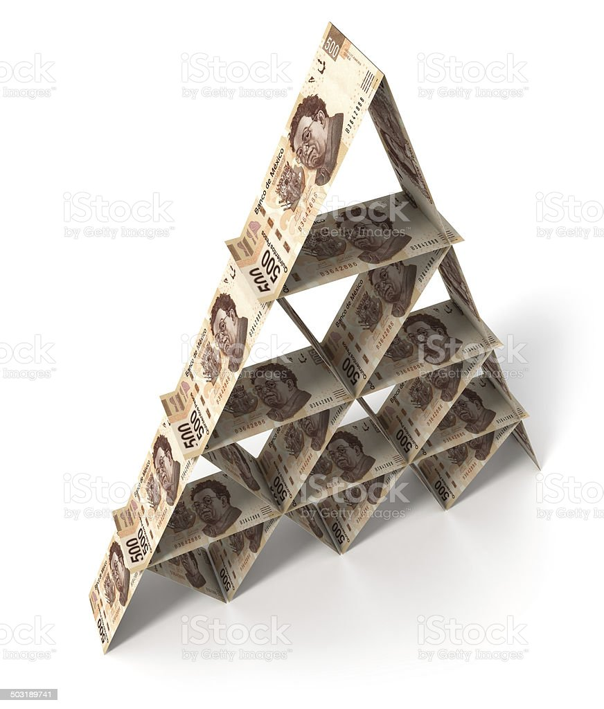 Financial security. Mexican pesos. vector art illustration