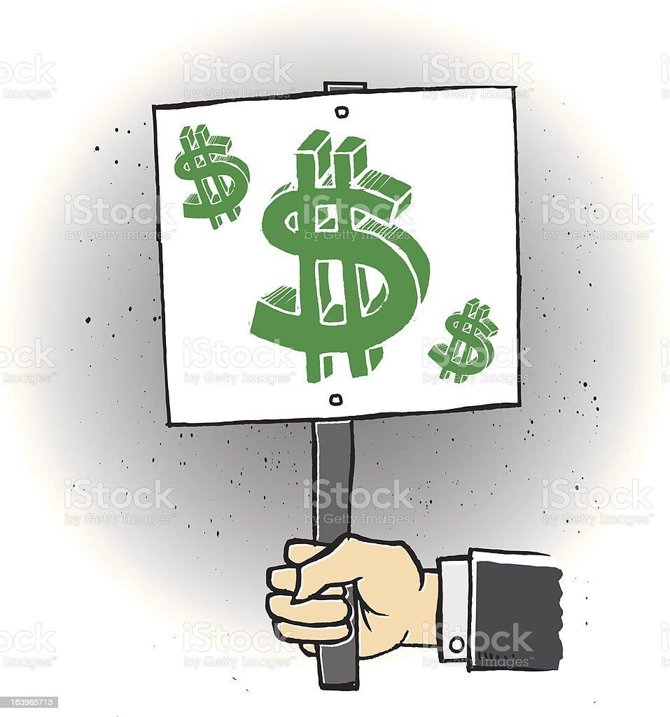Financial Trouble vector art illustration