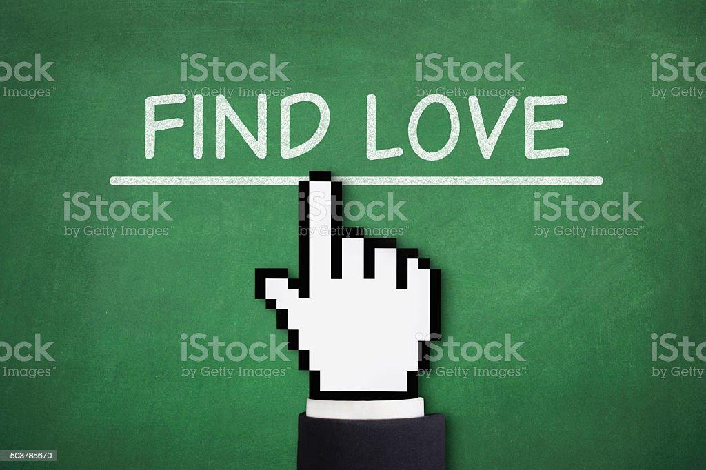 Find Love vector art illustration