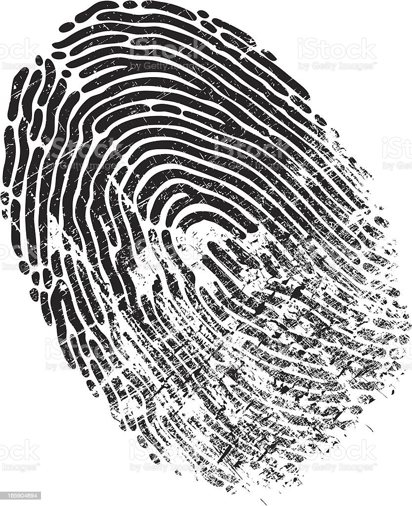 Finger Print Distressed royalty-free stock vector art