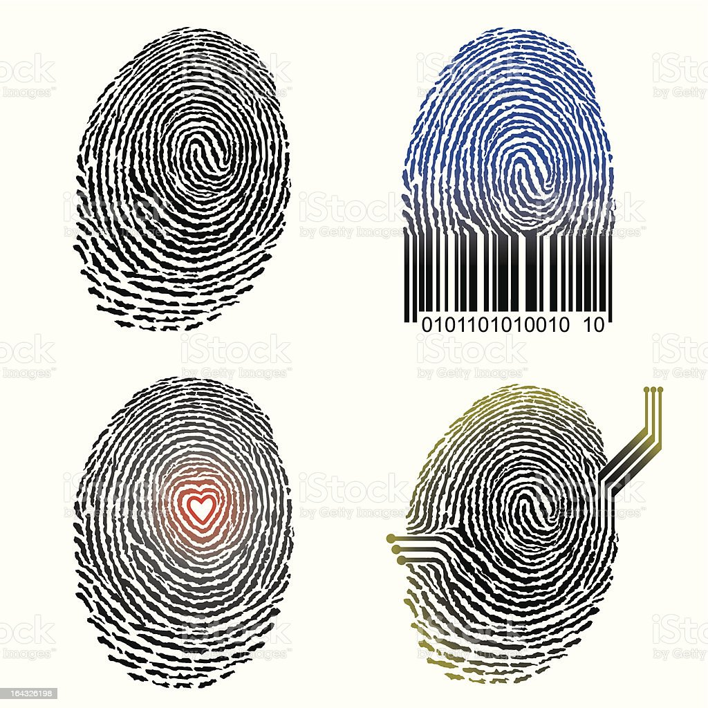 Fingerprint design vector art illustration