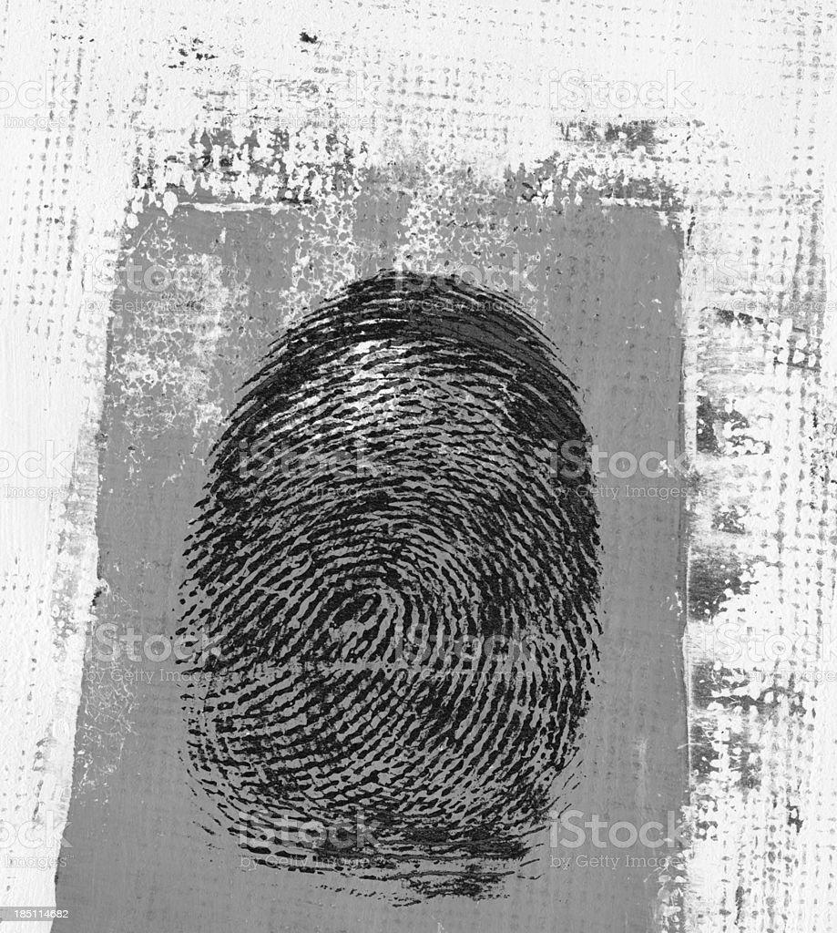 Fingerprint Watercolor Painted vector art illustration